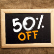 Stock Photo: Fifty percent off
