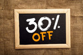 Thirty percent off — Stock Photo