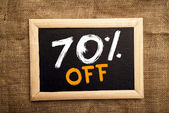 Seventy percent off — Stock Photo