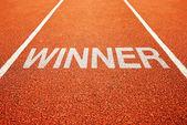 Vítěz stopa — Stock fotografie