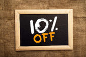 Ten percent off — Stock Photo
