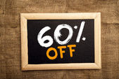 Sixty percent off — Stock Photo