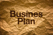 Business plan on Crumpled paper — Stock Photo