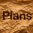 Plans on Crumpled paper — Stock Photo