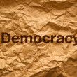 Stock Photo: Democracy on Crumpled paper