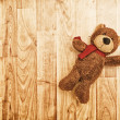 Teddy bear on the floor — Stock Photo