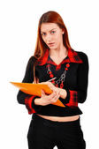 Notes d'écriture professionnelles femme — Photo