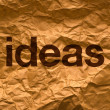 图库照片: Ideas on Crumpled paper