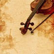 Classic violin on grunge paper background — Stock Photo #33073889