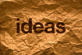 Ideas on Crumpled paper — Stock Photo