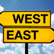 East or west, opposite signs — Stock Photo #33241955