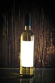 White wine in bottle — Stock Photo