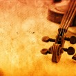 Classic violin on grunge paper background — Stock Photo
