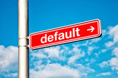 Default, directional sign — Stock Photo