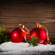 Christmas balls on New Year's Eve — Stock Photo