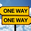 One way opposite signs — Stock Photo #33680611