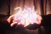 2014, Magic particles — Stock Photo