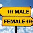 Male or female, opposite signs — Stock Photo #34269363