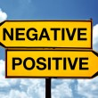 Stock Photo: Negative or positive, opposite signs