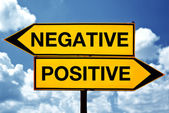 Negative or positive, opposite signs — Stock Photo