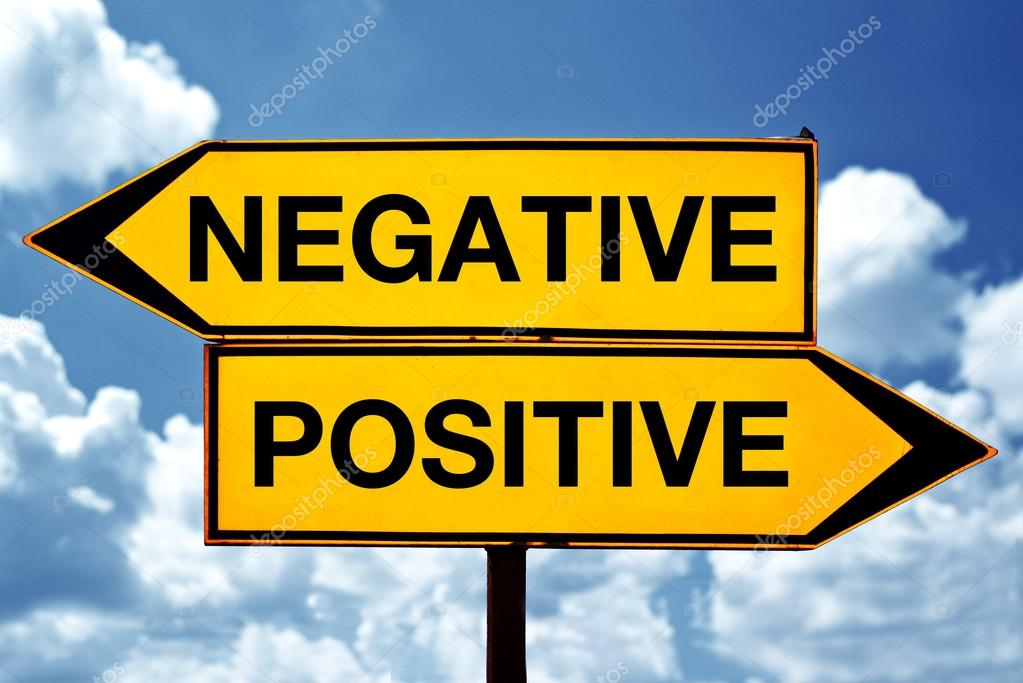 Positive And Negative Signs Negative or Positive Opposite