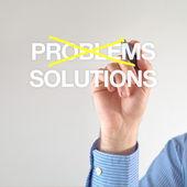 不是问题的解决办法 — 图库照片