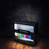 No Signal on TV — Stock Photo
