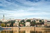 Belgrado stad over de rivier de sava — Stockfoto