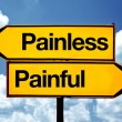 Painless or painful — 图库照片