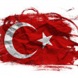 Turkey grunge flag — Stock Photo