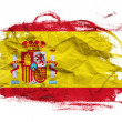 Spain flag on Crumpled paper texture — Stock Photo