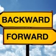 Stock Photo: Backward or forward
