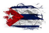 Grunge Cuban flag — Stock Photo