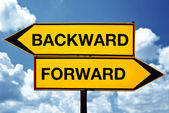 Backward or forward — Stock Photo