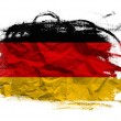 Germany flag on Crumpled paper texture — Stock Photo