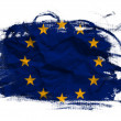 European union flag on Crumpled paper texture — Stock Photo
