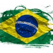 Brasil flag over grunge texture — Stock Photo