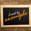 Lead by example — Stock Photo