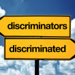 Discriminators and discriminated — Stock Photo