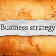 Business strategy on piece of paper — Stock Photo