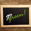Go Green — Stock fotografie