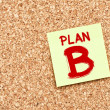 Plan B on Cork board with Note Paper — Stock Photo