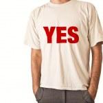 uomo in t-shirt bianca — Foto Stock