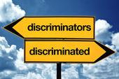 Discriminators and discriminated — Stock Photo