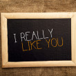 Stock Photo: I really like you