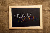 I really like you — Stock Photo