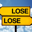 Stockfoto: Lose lose situation, opposite signs