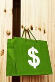 Torba na zakupy z symbolem dolara — Zdjęcie stockowe