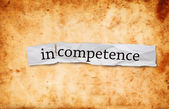 Incompetence concept — Stock Photo