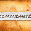 Stock Photo: Commitment title on piece of paper